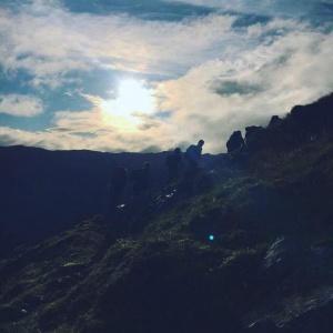 Group on mountain