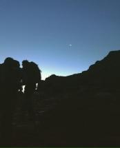 Snowdon moon sunrise