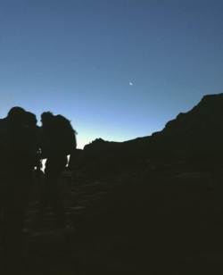 Snowdon moon sunrise