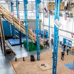 High ropes and assault course challenge